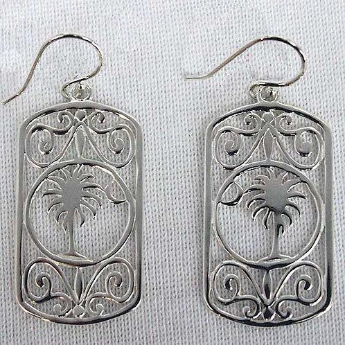Southern Gates SC Palmetto Moon Rectangle Earrings