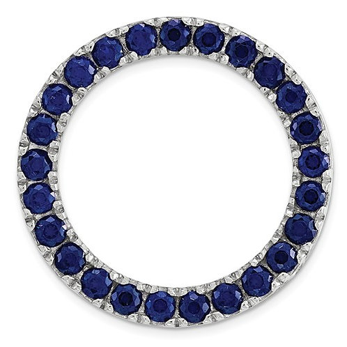 Sterling Silver Stackable Expressions Medium Created Sapphire Chain Slide