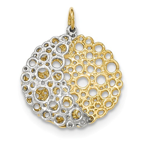 14K Yellow And White Gold Pendant