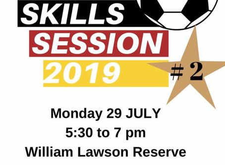 Skills Session 2019 - 29th July