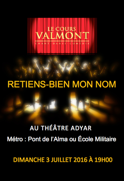 Cours Valmont - Spectacle 2016