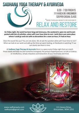 Relax & Restore Classes