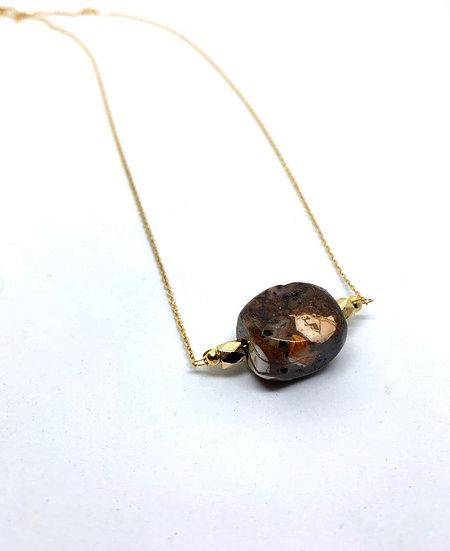Gemstone Necklace, howlite gemstone necklace
