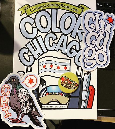 Color Chicago coloring book