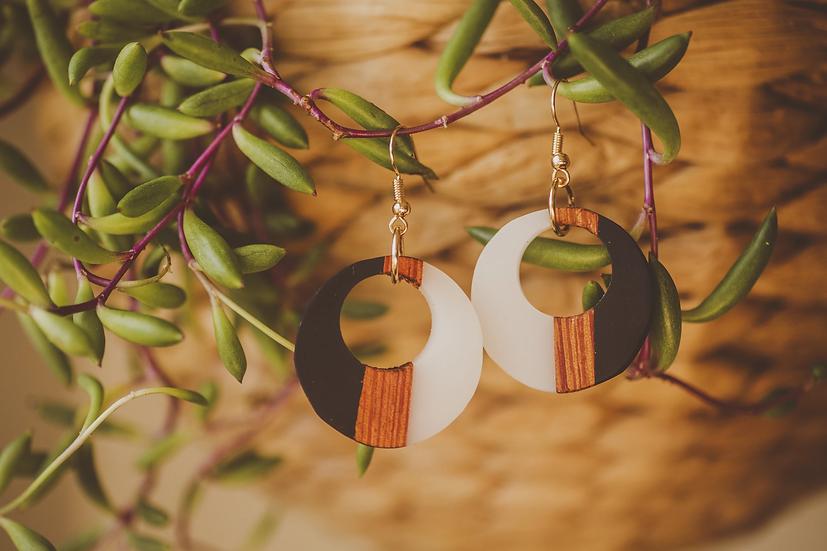 Dara Resin Jewelry, Resin, Resin Earrings, Wooden Earrings