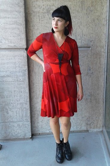 Red Tango Mock Wrap Dress