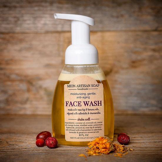 Face Wash - Rose Hip and Tamanu Oils (Lavender and Geranium)