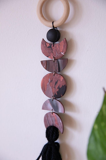 Red Mini Moon Phase Wall Hanging