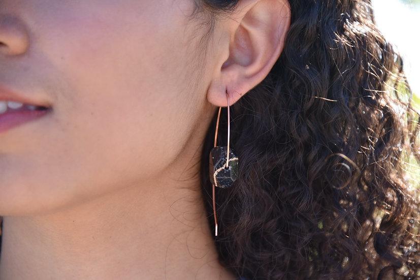 Red snowflake jasper earrings