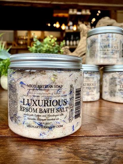 Luxurious epsom salt bath soak