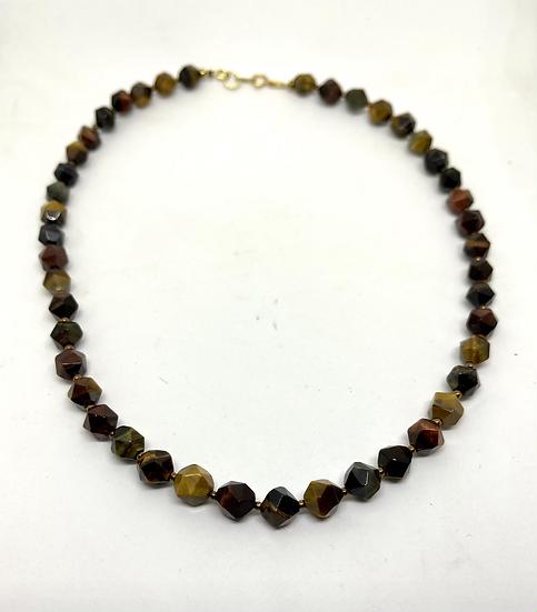 Gemstone Necklace, tiger's eye necklace