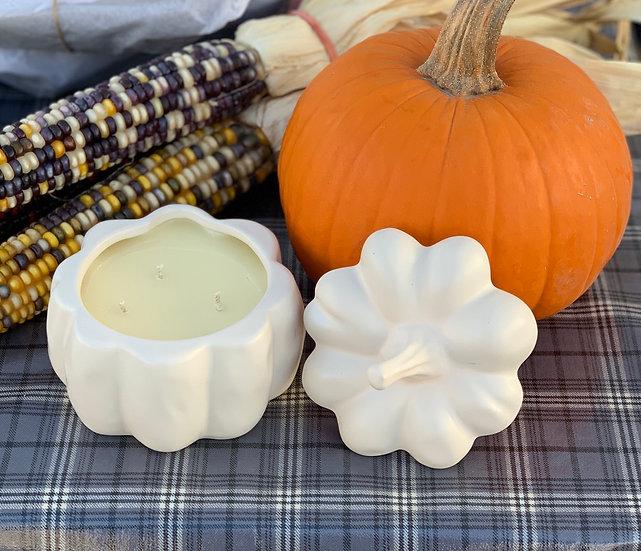 Sleepy Hollow Pumpkin Chai Ceramic pumpkin Candle