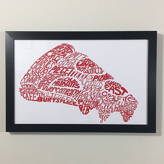 Chicago pizzerias art print