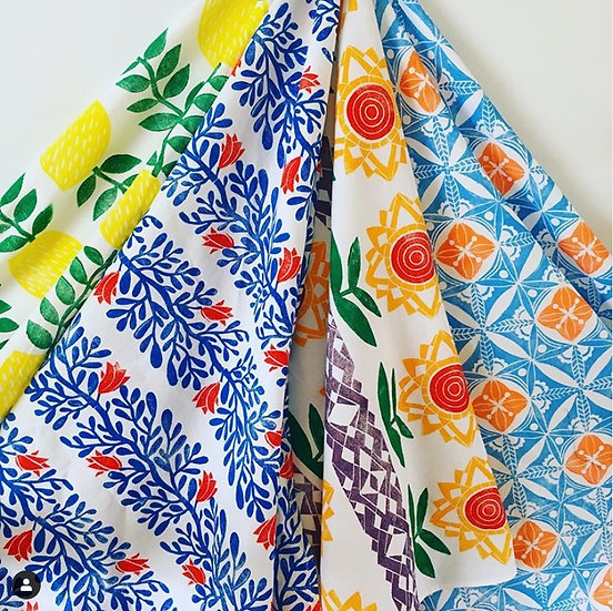 Hand Block Printed Kitchen towel/Tea towel