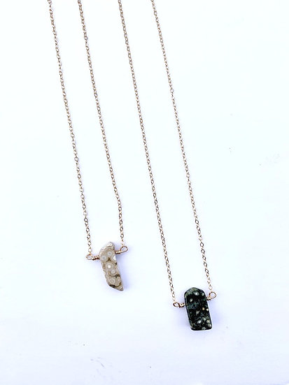 Gemstone Necklace, Ocean jasper gemstone necklace
