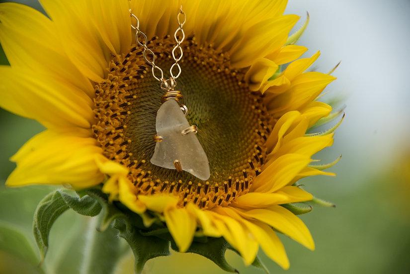 Lake Michigan glass necklace