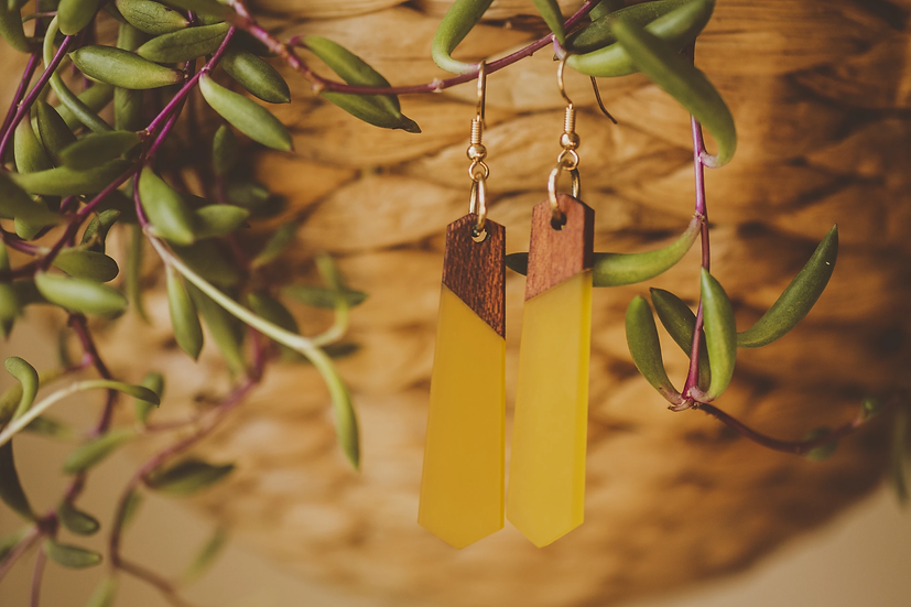 Giselle Resin Jewelry, Resin, Resin Earrings, Wooden Earrings