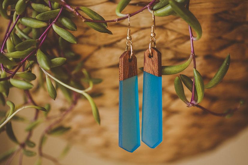 Blu Breeze Resin Jewelry, Resin, Resin Earrings, Wooden Earrings