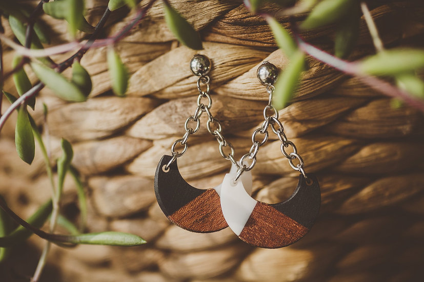 Isabella Resin Jewelry, Resin, Resin Earrings, Wooden Earrings