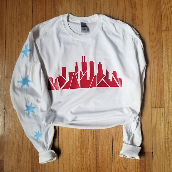 Chicago Skyline Long Sleeve Crop
