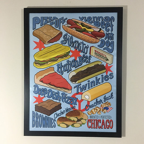 Invented in Chicago print poster