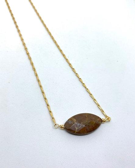 Gemstone Necklace, Brown jasper gemstone necklace