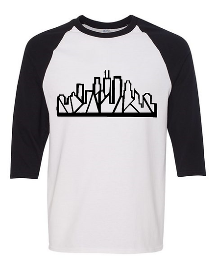 Chicago Skyline Baseball Tee