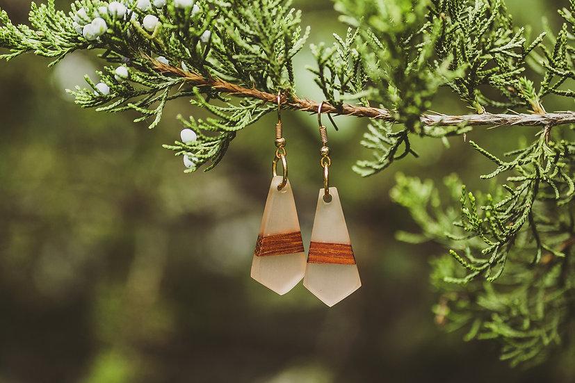 Happy Hour Resin Jewelry, Resin, Resin Earrings, Wooden Earrings