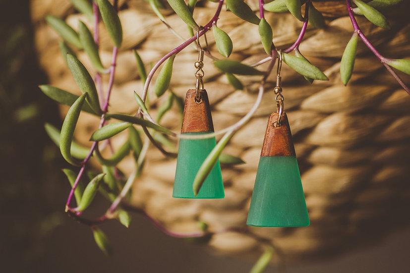 Jade Resin Jewelry, Resin, Resin Earrings, Wooden Earrings