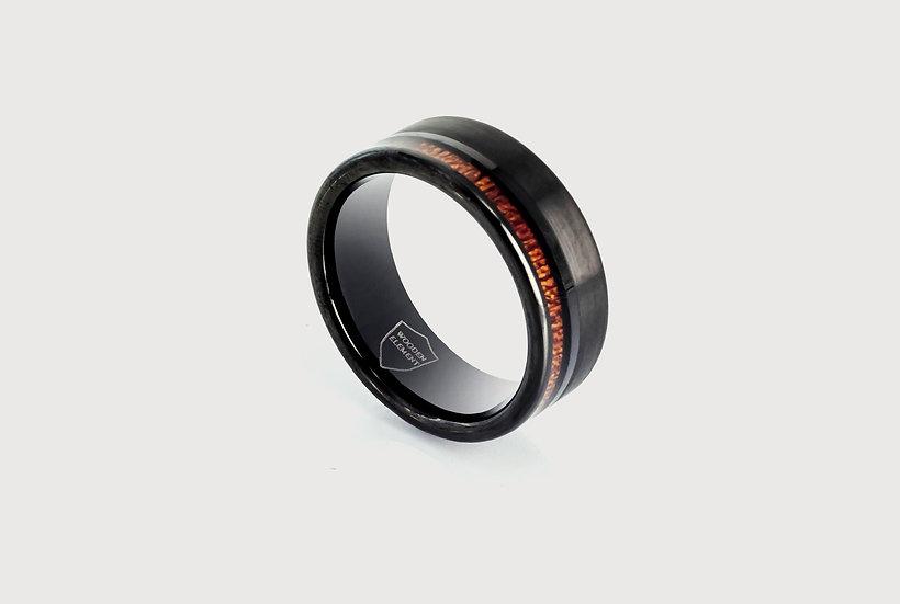Raven Wooden Ring