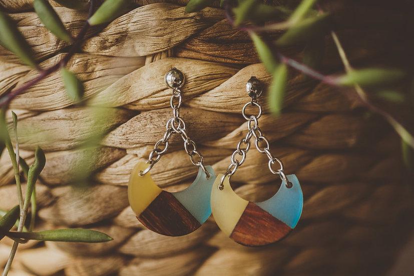 Avril Resin Jewelry, Resin, Resin Earrings, Wooden Earrings