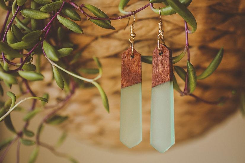 Playa Baya Resin Jewelry, Resin, Resin Earrings, Wooden Earrings