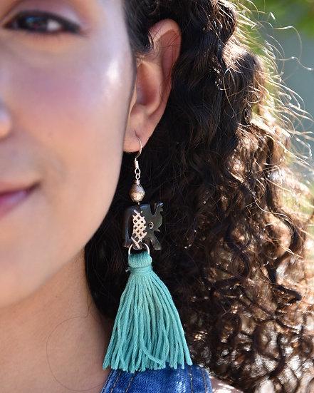 Carved Elephant earrings