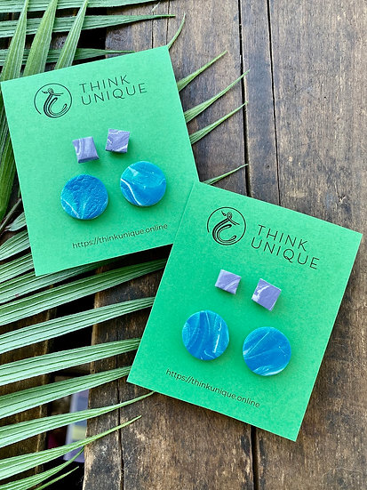 """""""Color mix"""" Stud earrings pack"""