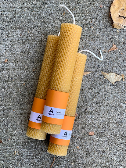Hand-Rolled Beeswax Taper