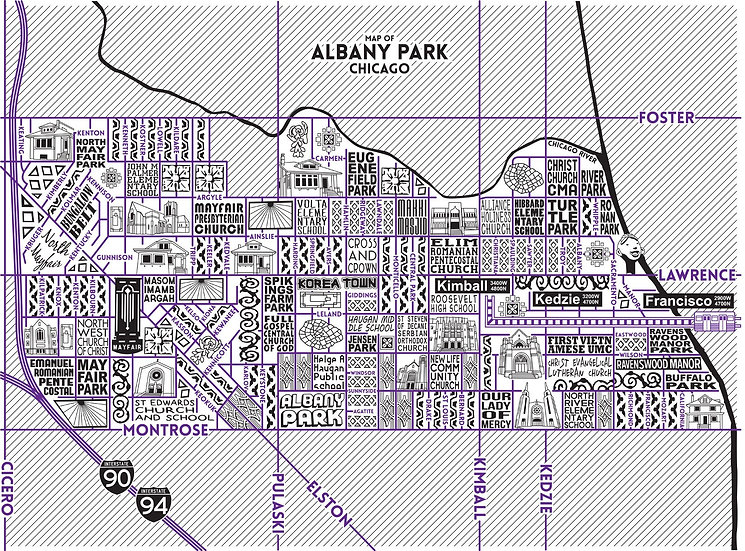 Albany Park neighborhood map