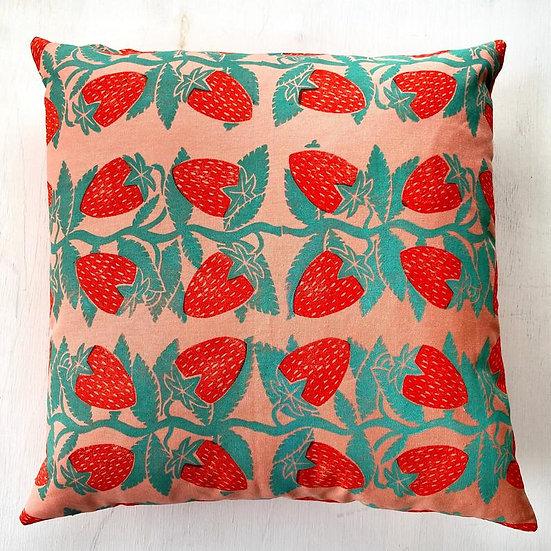 Strawberry Vines Throw Pillow