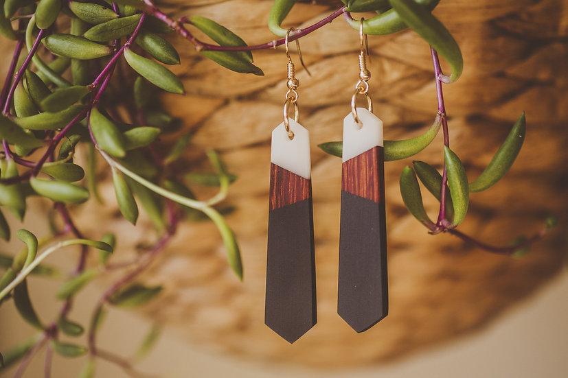 EKO Resin Jewelry, Resin, Resin Earrings, Wooden Earrings