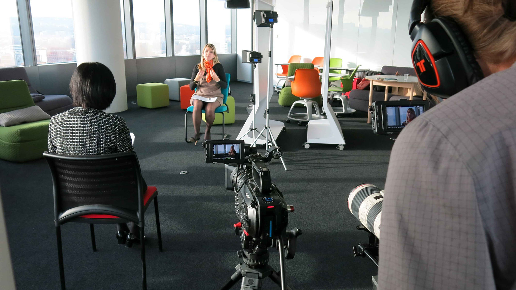 Video interview recording