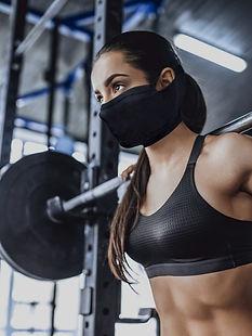 NAROO N1S - Mascarilla deportiva para gimnasio para climas cálidos con tela que absorbe la