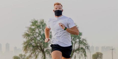 NAROO F5S -Máscara deportiva para correr para todos los climas con polen, contaminación, p
