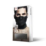 Empaque de la máscara deportiva com cuello, modelo F5