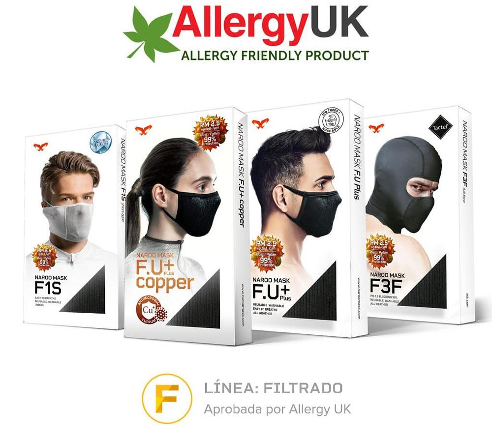 Mascarillas deportivas para alergias respiratorias, como la alergia al polen, a la contaminación o al polvo y los ácaros