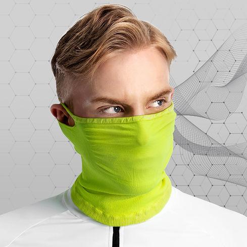 barbijos deportivos estandar con fibra x que permite respirar bien