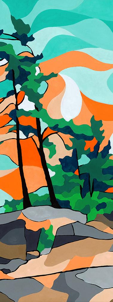 Blue & Orange Pine