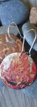 Copper Silver Earrings