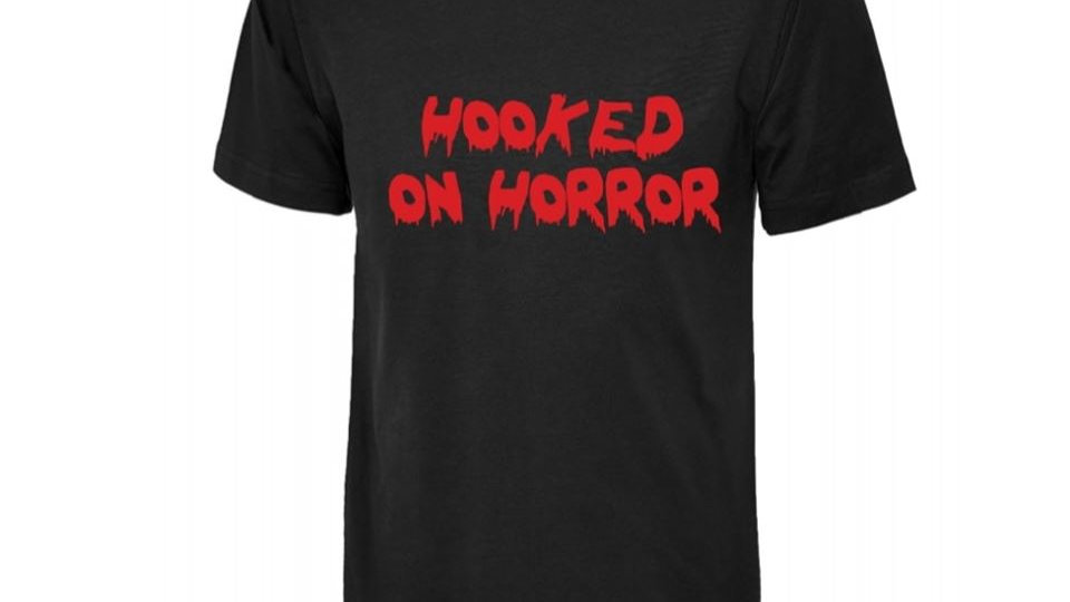 Hooked On Horror Unisex Branded T-Shirt