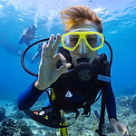 Certified Diver Giving Okay Hand Sign