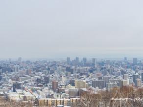 冬の街並み Winter cityscape.