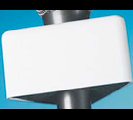 Mic Flag White Triangle